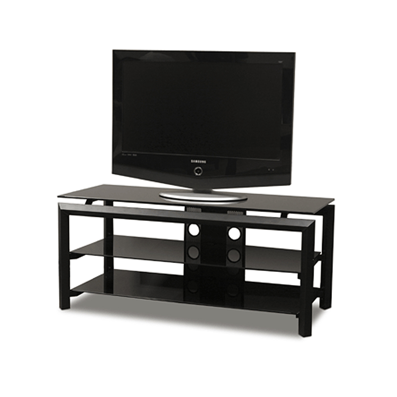 tech craft bernini series rectangular black glass tv stand