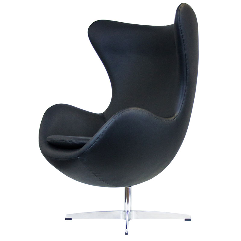 Ifn Modern Fine Leather Egg Style Chair Various Colors Kt430