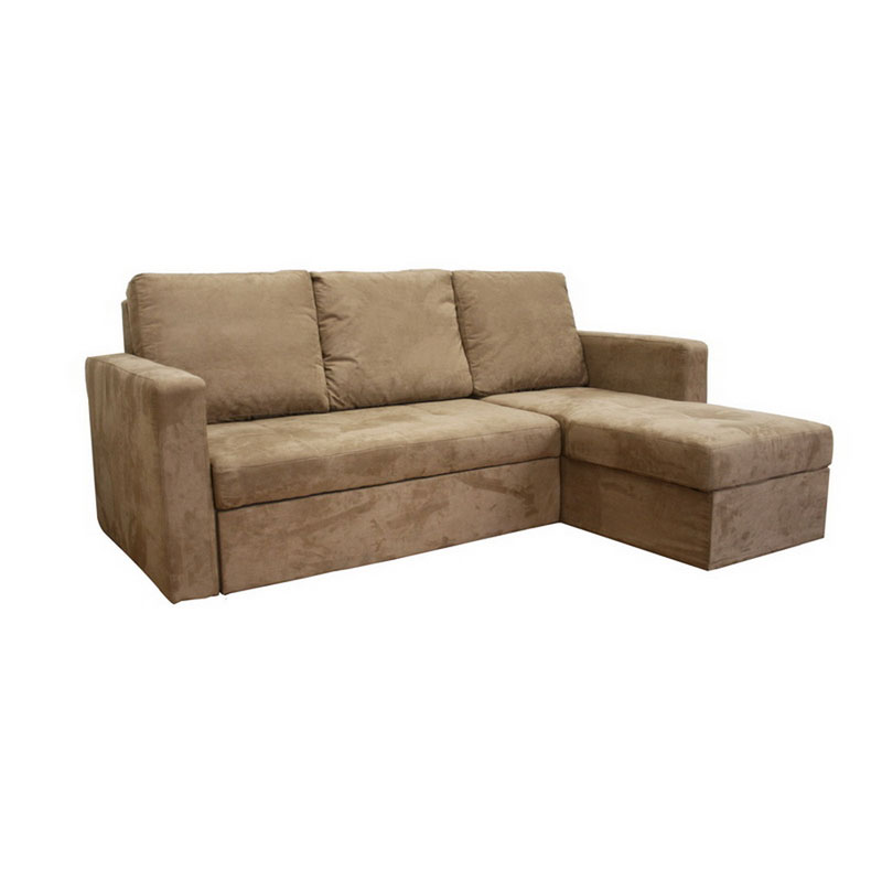 Wholesale Interiors Baxton Microfiber Convertible Sofa Bed Sectional Tan Lan 121 Sofa Chaise