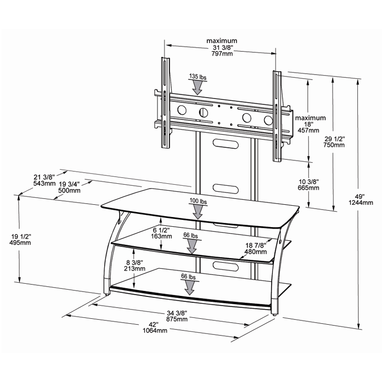 Black Glass Tv Stand Assembly Instructions Glass Designs