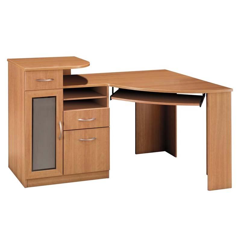 Bush furniture vantage wood corner computer desk in harvest cherry