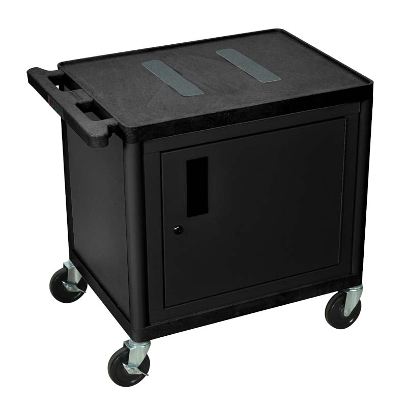 Luxor 26 Inch Endura Table With Cabinet Black LE26C-B