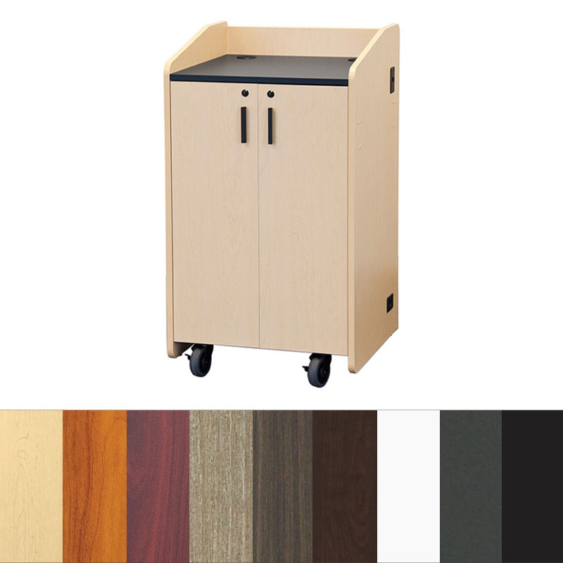 View A Larger Image Of The Audio Visual Furniture   VFI Flat Top Lectern  (Various