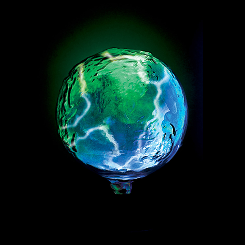 Salt Lamps Green Earth : LumiSource Mini Earth Electra Lamp (Blue Green) LSE-RTHSM-B