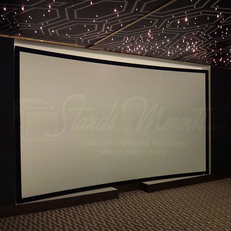 Elite screens lunette acousticpro 1080p3 curved frame for Elite motorized projector screen