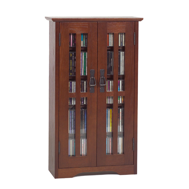 Leslie dame wall hanging mission style multimedia cabinet walnut m 190w - Kabinet multimedia ...