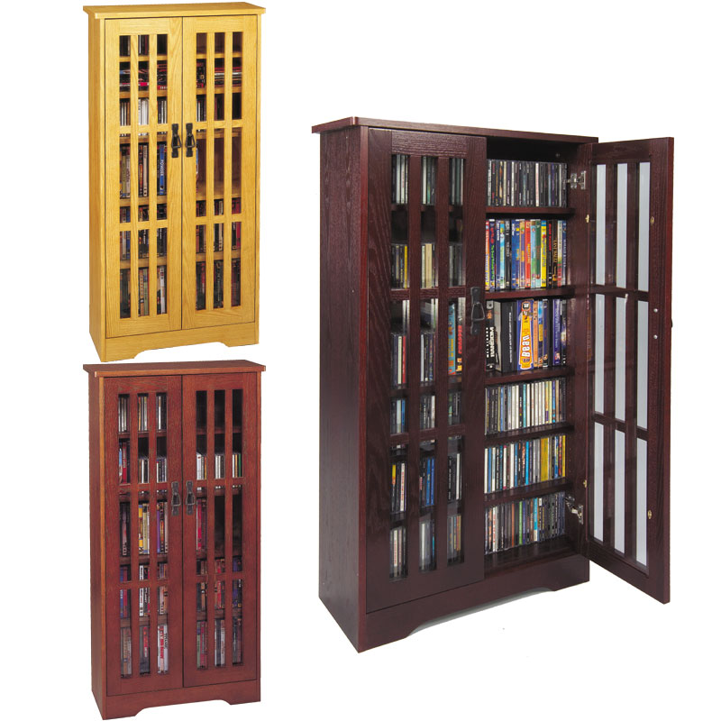 view larger image dame storage cabinet with glass doors oak venture horizon cd dvd media drawers woodworking plans allegro vhs