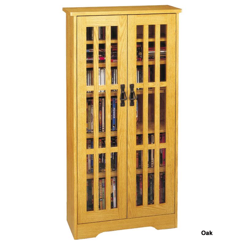 dame storage cabinet with glass doors oak walnut dark cherry cd dvd library uk white