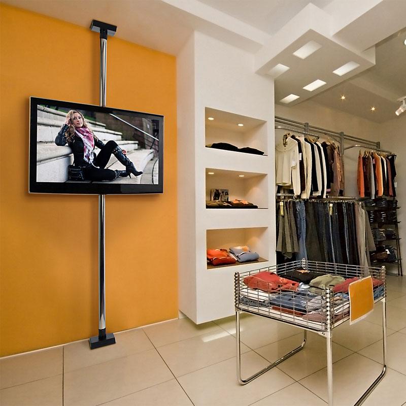 peerless modular series floor ceiling mount kit chrome mod tv walmart home depot 70 inch