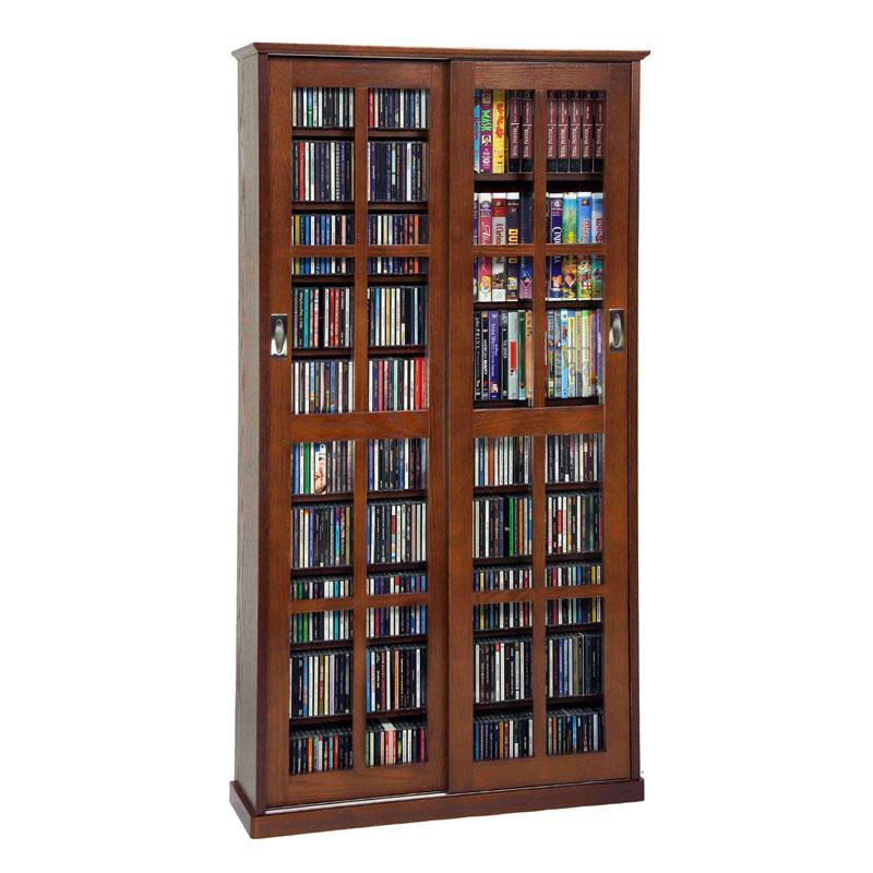 Leslie Dame Multimedia Storage Cabinet Walnut Ms 700w