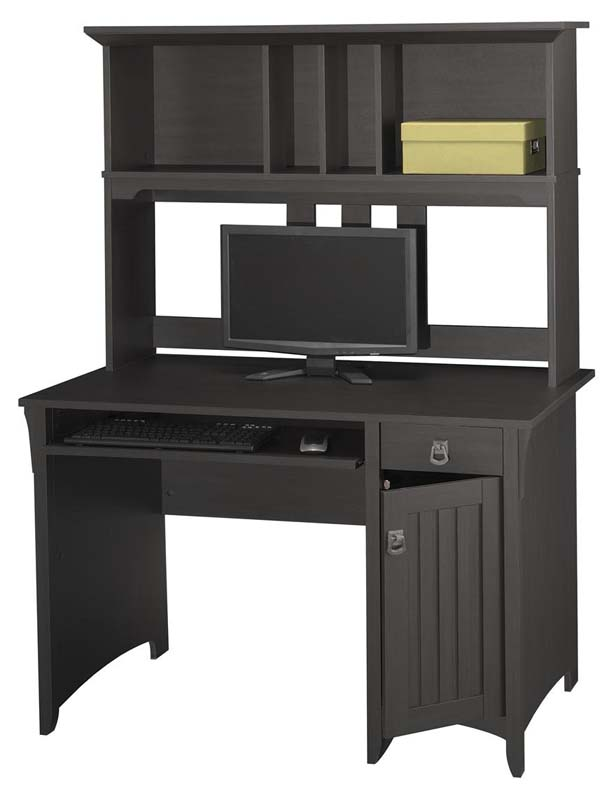 Bush Salinas Series Mission Style Desk With Hutch Aged