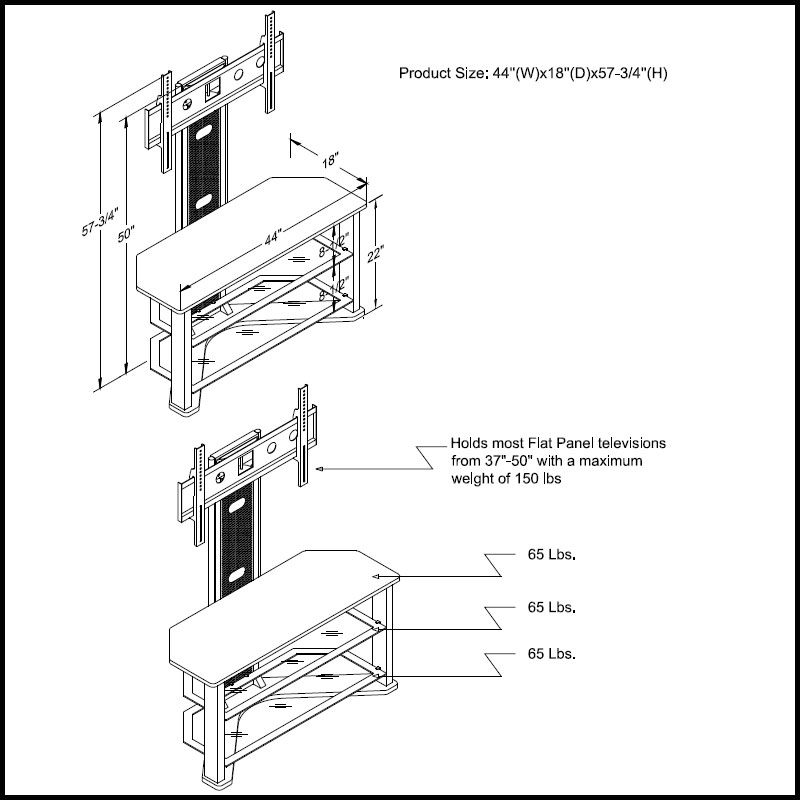 Z Line Tv Stand Parts Z Line Designs Phantom In Metal Tv Stand With