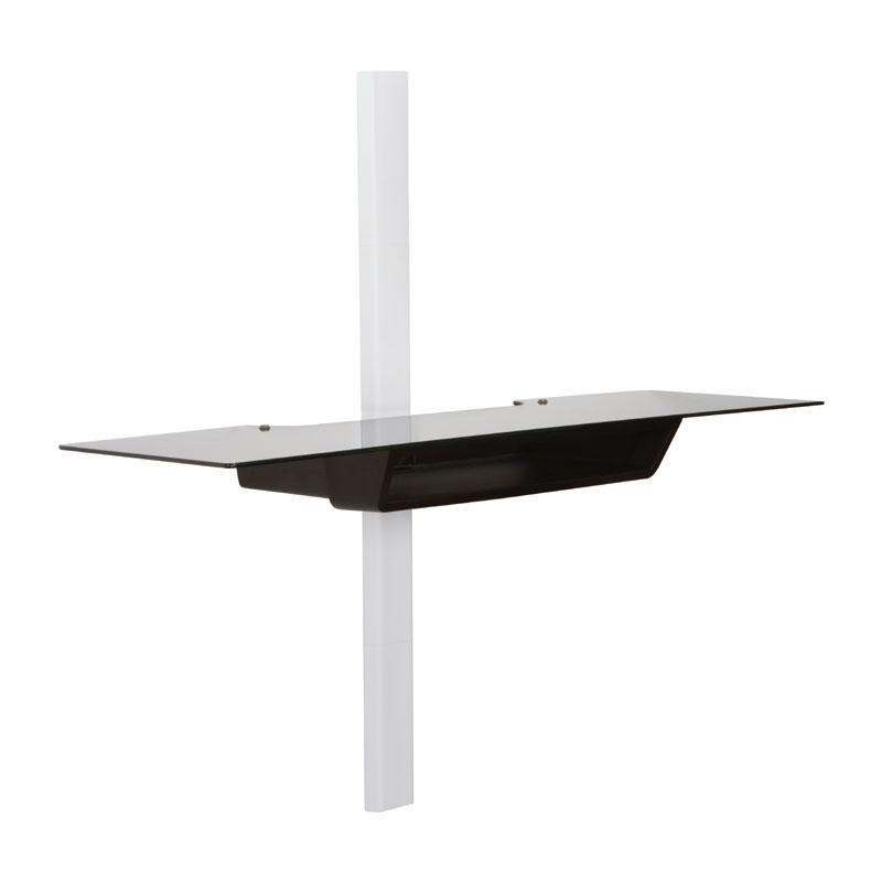 Omnimount Ows60 Extra Wide Glass Av Wall Shelf