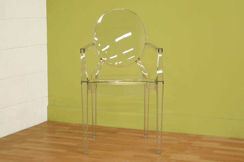 ... Interiors Set of Two Clear Acrylic Arm Chairs (Clear) PC-449-CLEAR