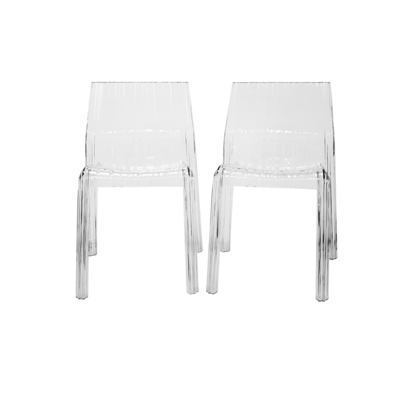 minotti transparent clear acrylic chair set of 2 pc 511 clear