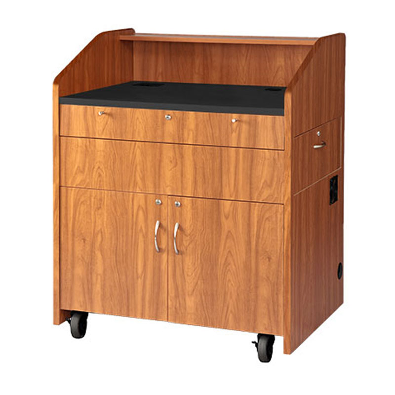 Vfi avf audio visual furniture flat top multimedia podium for Avf furniture