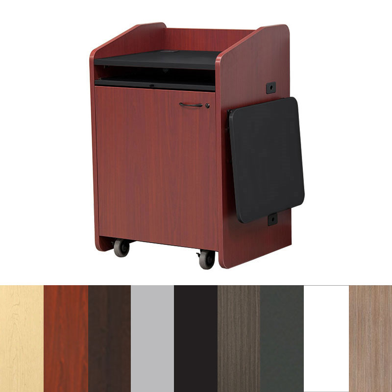 View A Larger Image Of The Audio Visual Furniture   VFI Economy Podium With  Casters (