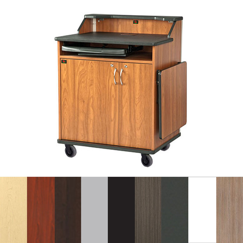 View A Larger Image Of The Audio Visual Furniture   VFI Modern Podium With  Rack Mount