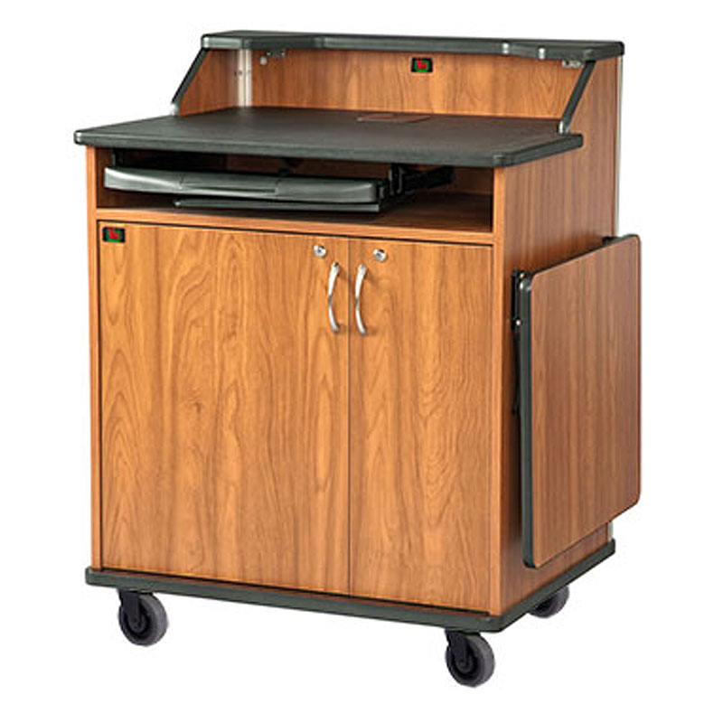 Superb Audio Visual Furniture   VFI Modern Podium With Rack Mount And Flip Up  Shelf (Various Finishes) PD3009