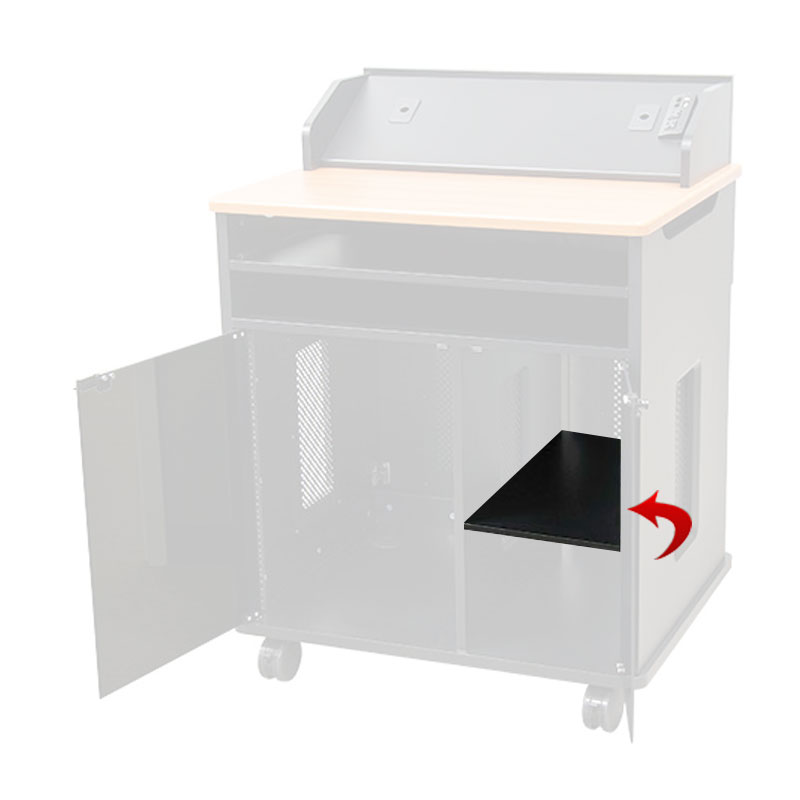 View A Larger Image Of The Audio Visual Furniture   VFI Adjustable Shelf  For PDVP5001 (