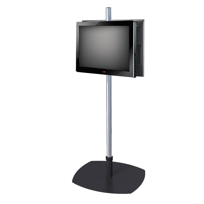 Premier mounts single pole floor stand for dual 17 40 inch for Stand 2 b