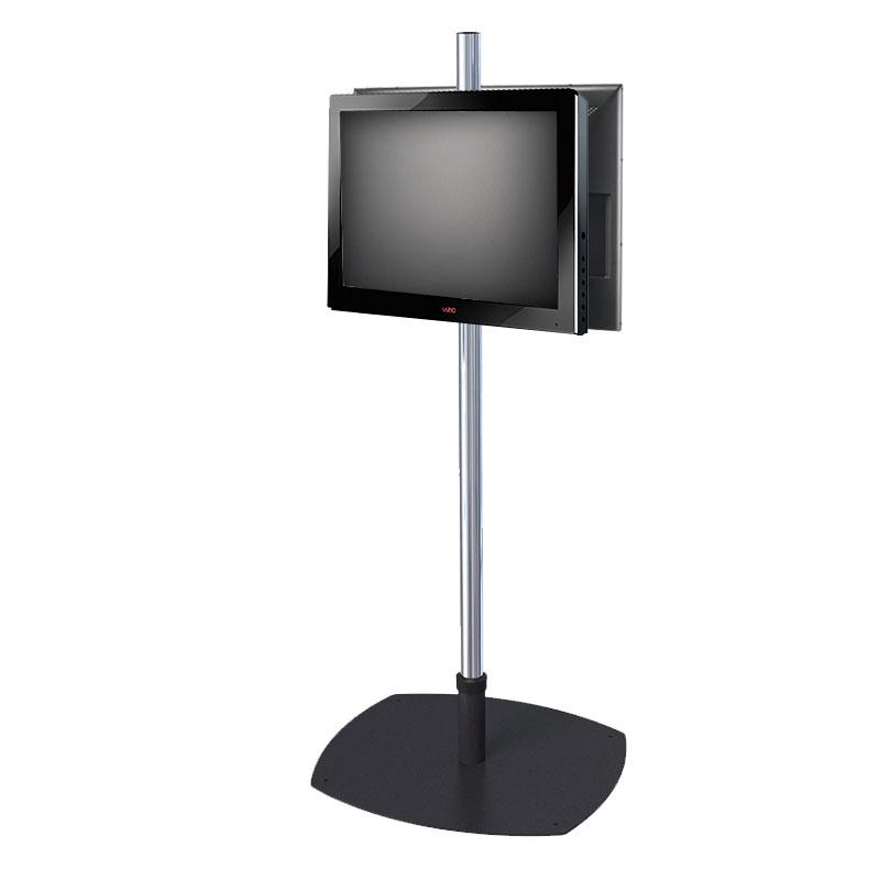 premier mounts single pole floor stand for dual 17 40 inch screens psp 2vpm. Black Bedroom Furniture Sets. Home Design Ideas