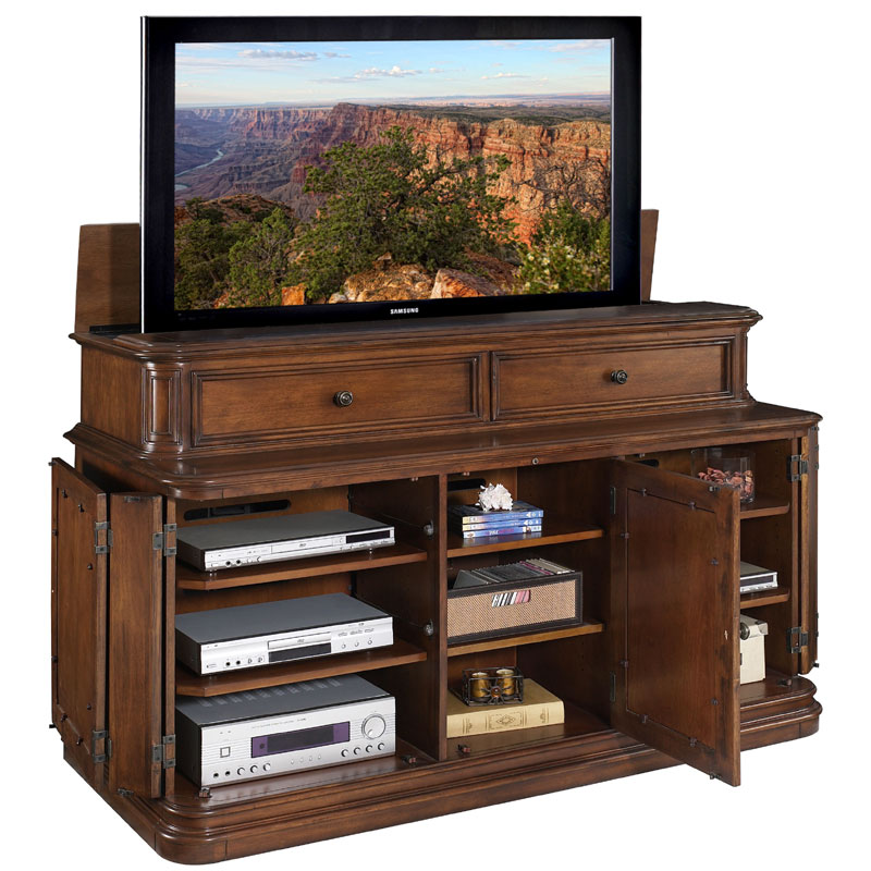 tv lift cabinet pacifica lift for 40 70 inch screens. Black Bedroom Furniture Sets. Home Design Ideas