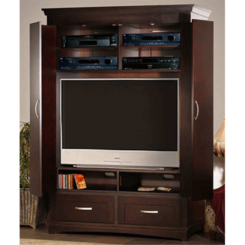 Innovative soho high definition cabineted armoire for Entertainment armoire