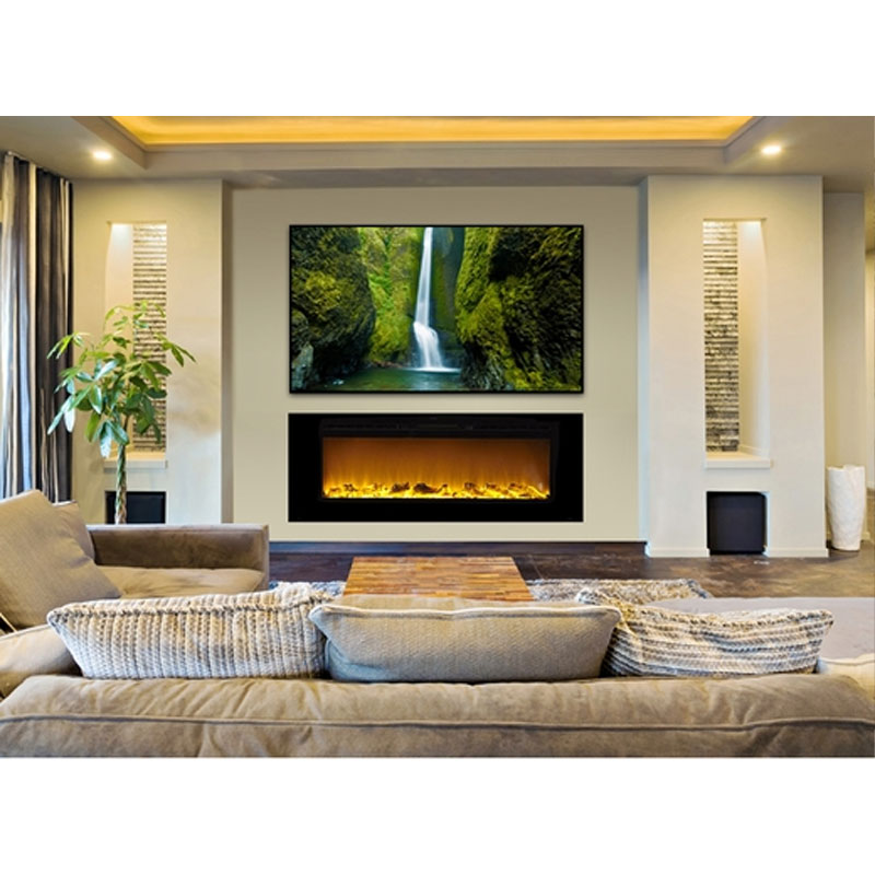 touchstone sideline 60 inch wall mounted recessed electric
