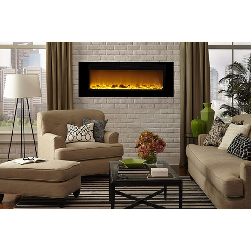Fireplace Design touchstone fireplace : Touchstone Sideline 60 inch Wall Mounted Recessed Electric ...