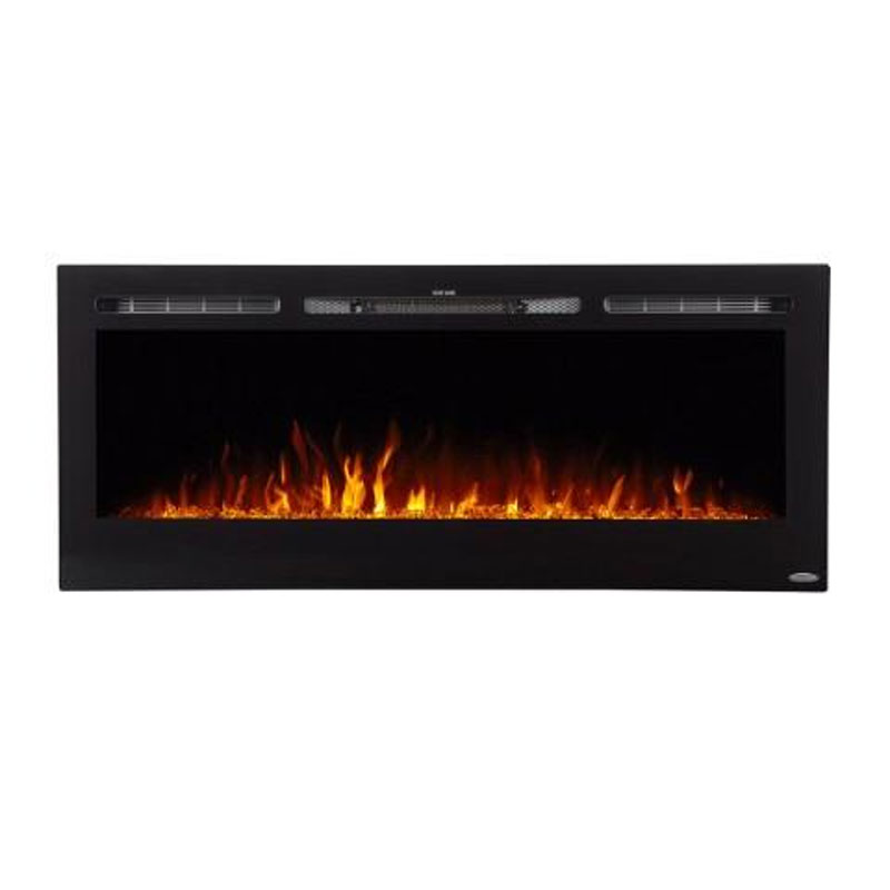 Wall Mount Electric Fireplace Or Recessed Within Designs: Touchstone Sideline 60 Inch Wall Mounted Recessed Electric