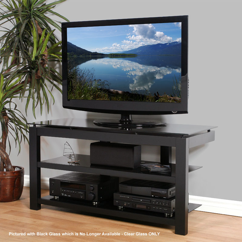 Plateau Sl Series Floating Glass And Wood Tv Stand For 32