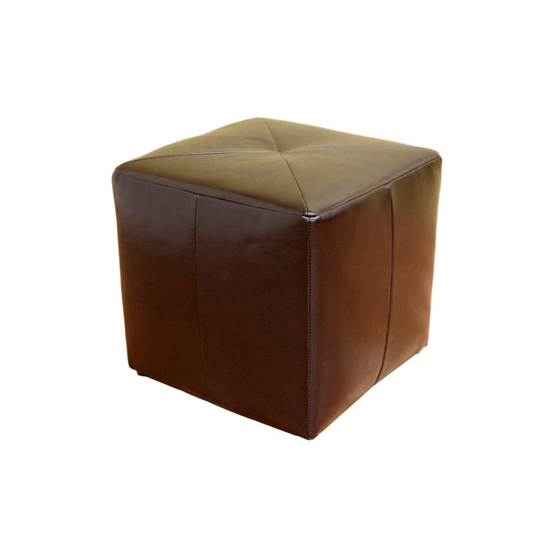 Wholesale Interiors Aric Bicast Leather Ottoman Brown St