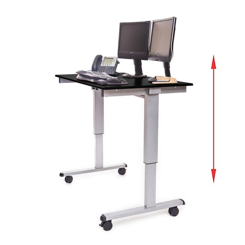 luxor stande 48 ag bo 48 electric standing desk silver. Black Bedroom Furniture Sets. Home Design Ideas
