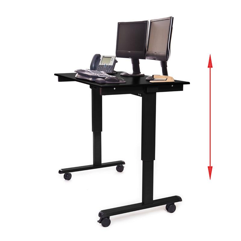 Luxor Stande 48 Bk Bo 48 Electric Standing Desk Black