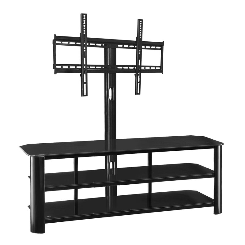 innovex stanford 3 in 1 tv stand with mounting bracket for 55 inch tvs black tb286g29. Black Bedroom Furniture Sets. Home Design Ideas