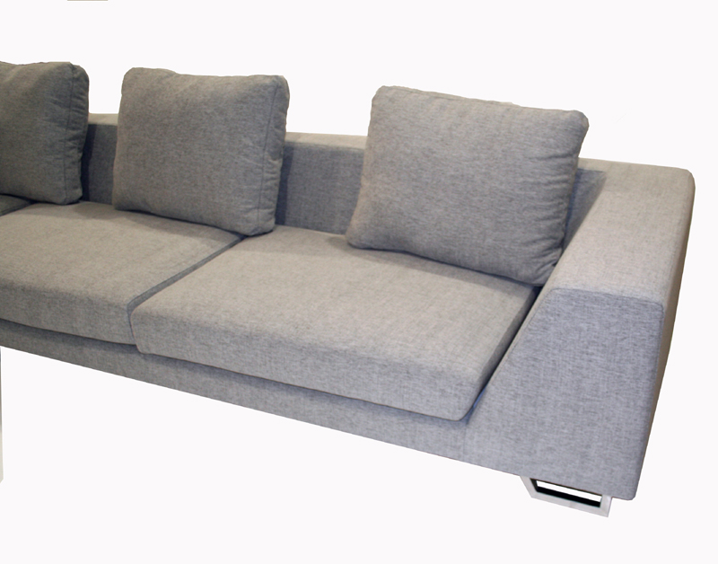 Wholesale Interiors 2 Piece Twill Sofa Sectional Grey TD6301MECUE03