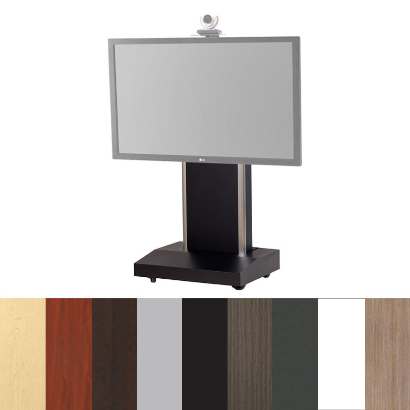Perfect View A Larger Image Of The Audio Visual Furniture   VFI Mobile Telepresence  Stand For 50