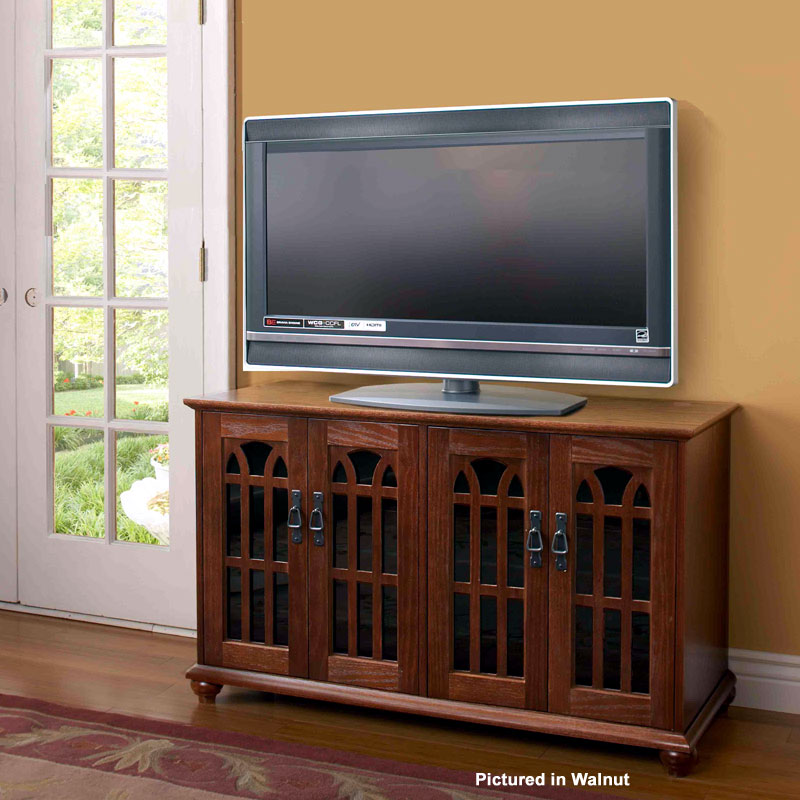 Leslie Dame Mission Style 50 Inch Tv Stand With Glass