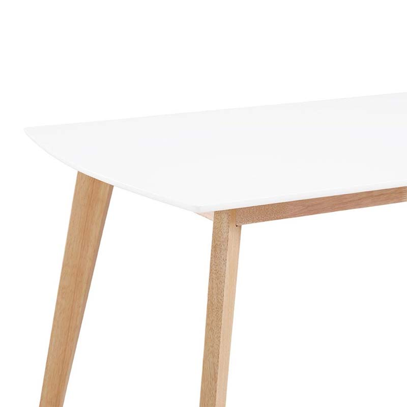 walker edison retro modern wood dining table white and natur