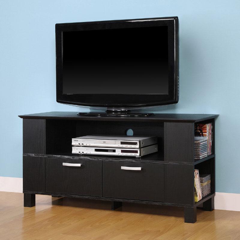 walker edison coronado series wood tv console for up to 52 flat panels black w44cmpbl. Black Bedroom Furniture Sets. Home Design Ideas