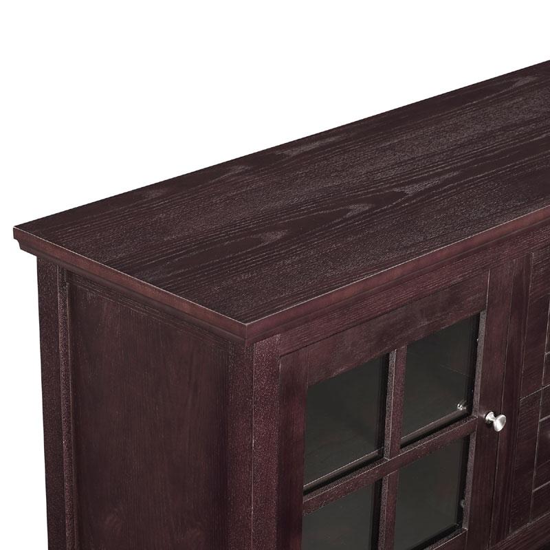 Walker Edison 55 Inch Highboy Table Tv Stand Espresso