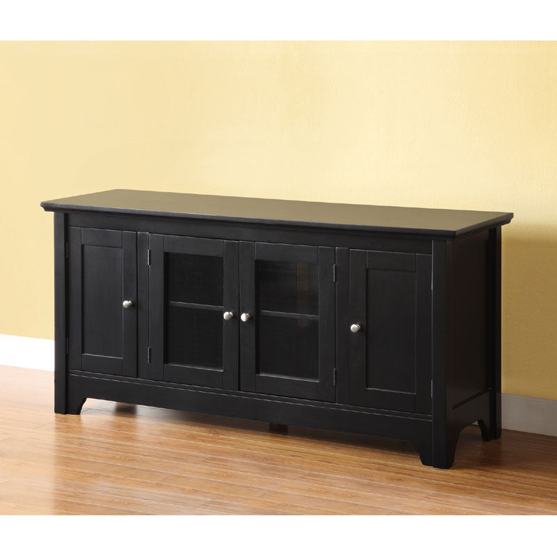 Wood Tv Stands Product ~ Walker edison wood tv console with doors matte