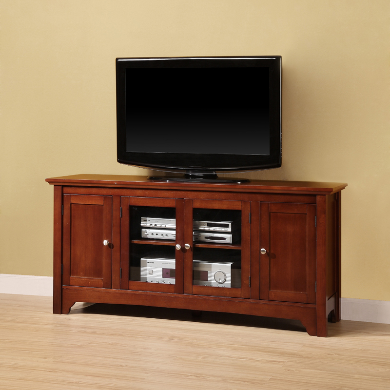 Walker edison solid wood tv console for up to flat