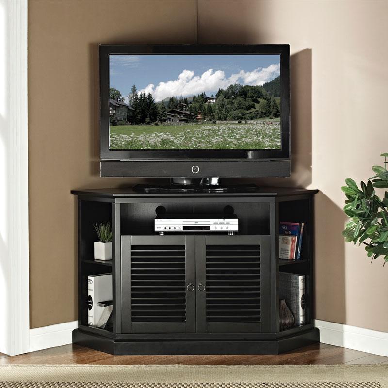 Walker Edison Wood Highboy 55 Inch Corner Tv Cabinet Gloss