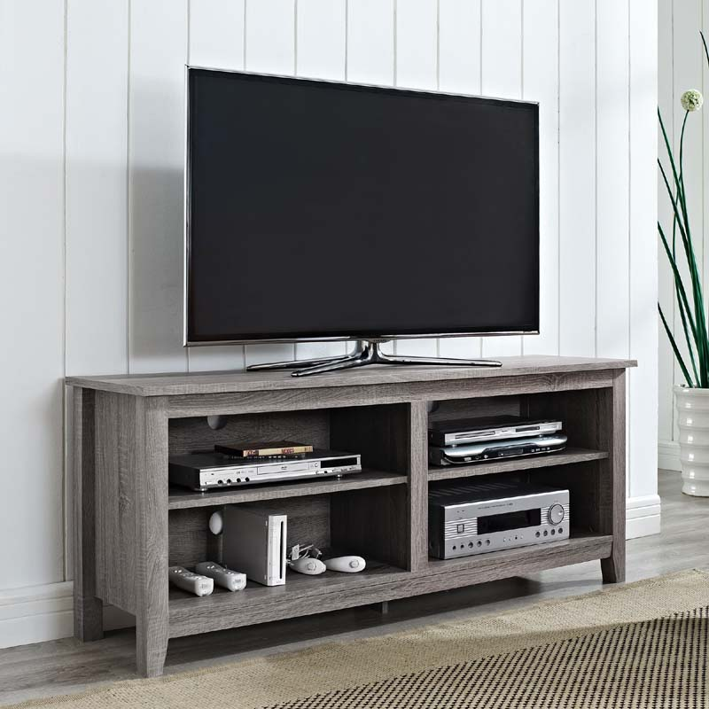 Walker edison urban essentials 60 inch tv stand ash gray w58cspag - Tv stand ...