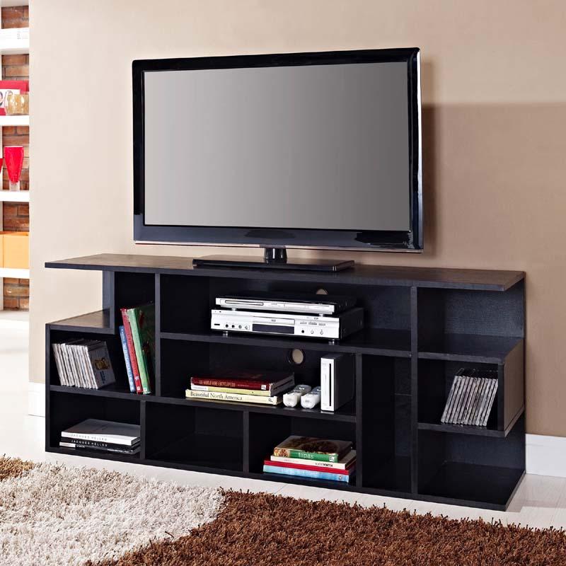 Walker Edison Mod Style Storage 65 Inch TV Stand Black W60MSBL