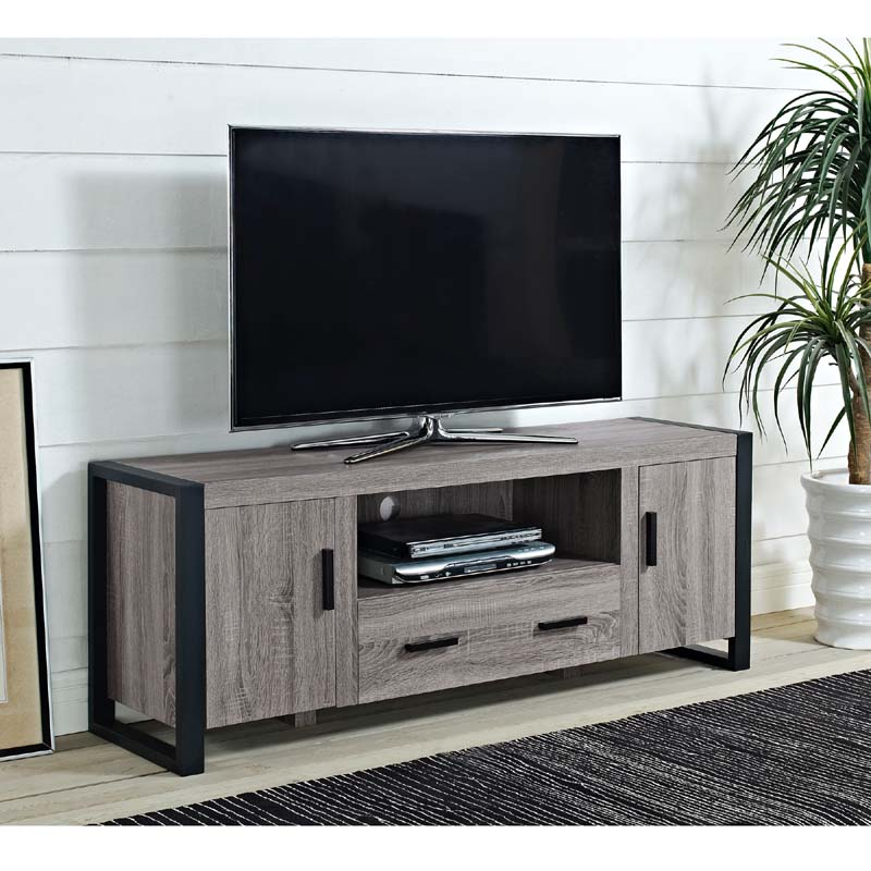 Walker Edison Urban Blend 65 inch TV Console (Ash Gray and ...