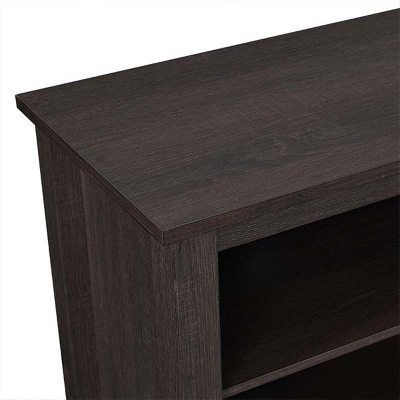 walker edison 70 inch tv stand with electric fireplace espresso w70fp18es. Black Bedroom Furniture Sets. Home Design Ideas