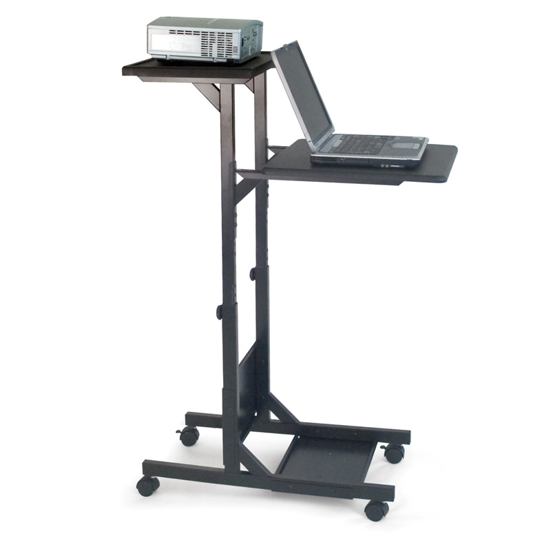 H Wilson Mobile Laptop Presentation Cart Black Wps3
